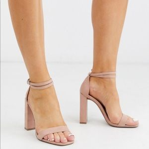 ASOS barely there heeled sandals